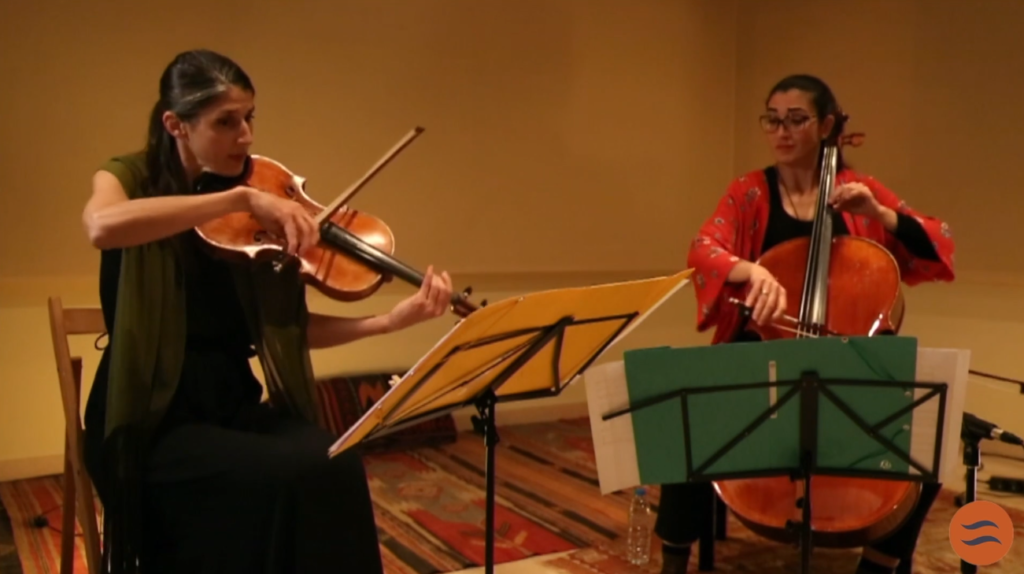 Irene ARGÜELLO (viola) y Amaia RUANO (cello)