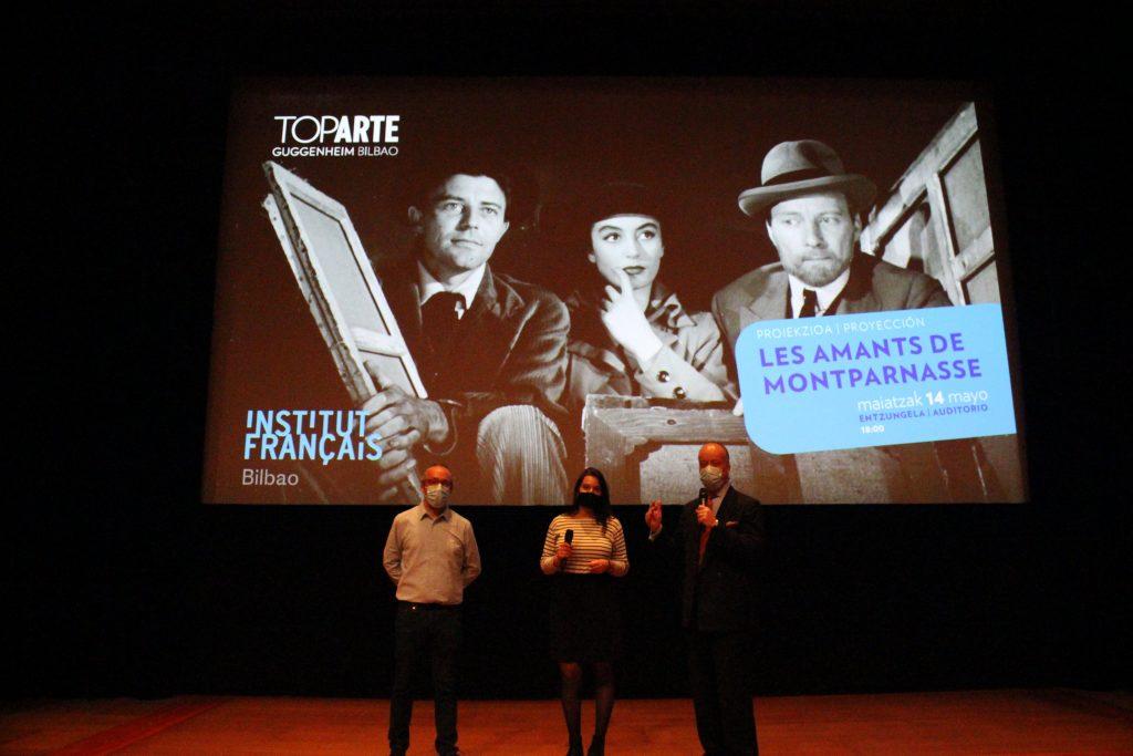 De la izquierda a la derecha: Boris Durand, Margot Le Peltier, Edouard Mayoral