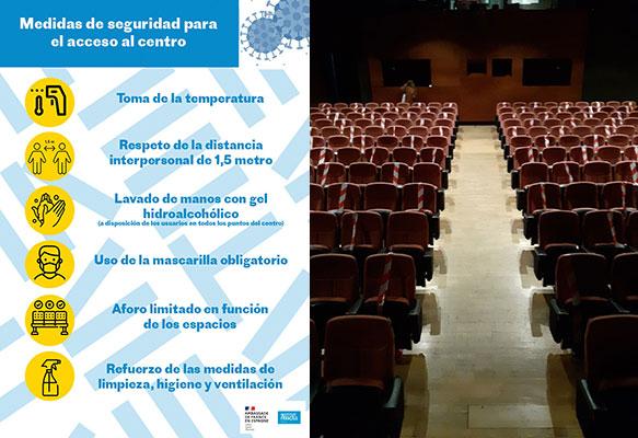 Medidas sanitarias en el teatro IFEM - © 2020