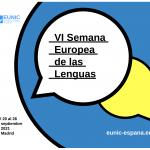HA LLEGADO LA VIª EDICIÓN DE LA SEMANA EUROPEA DE LAS LENGUAS