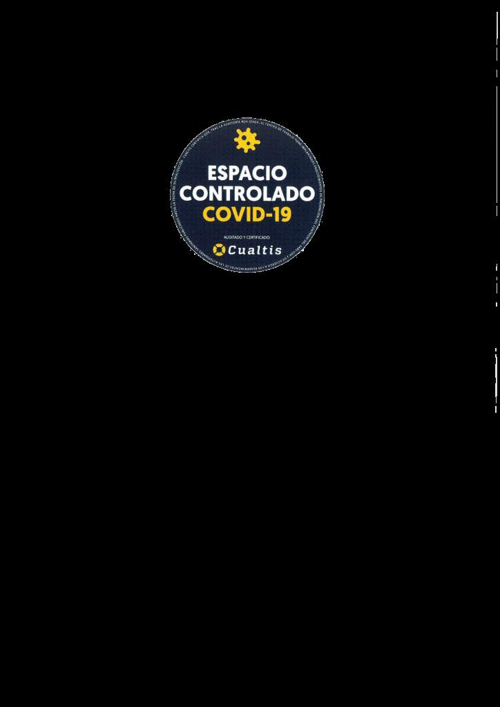 Certificado Cualtis Espacio controlado covid-19