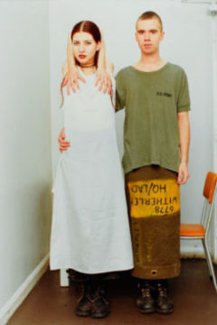 Wolfgang Tillmans. Suzanne & Lutz, white dress, army skirt, 1993. © Wolfgang Tillmans. © Centre Pompidou, MNAM-CCI/Philippe Migeat/Dist. RMN-GP.